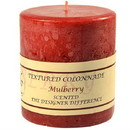 Keystone Candle Tex4x4-Mulb Textured 4x4 Mulberry Pillar Candles