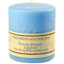Keystone Candle Tex4x4-OBreeze Textured 4x4 Ocean Breeze Pillar Candles