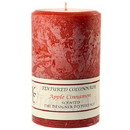 Keystone Candle Tex4x6-AppCinn Textured 4x6 Apple Cinnamon Pillar Candles