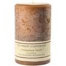 Keystone Candle Tex4x6-CinnStick Textured 4x6 Cinnamon Stick Pillar Candles