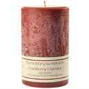 Keystone Candle Tex4x6-CranChut Textured 4x6 Cranberry Chutney Pillar Candles