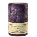 Keystone Candle Tex4x6-Lilac Textured 4x6 Lilac Pillar Candles