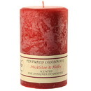 Keystone Candle Tex4x6-MisHolly Textured 4x6 Mistletoe and Holly Pillar Candles