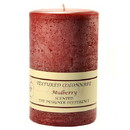 Keystone Candle Tex4x6-Mulb Textured 4x6 Mulberry Pillar Candles