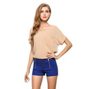 TopTie Women's Chiffon Top Blouse Jersey Tee Top T-Shirt With Pocket, 18 Colors