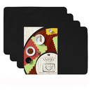 Aspire 4PCS Thicken Non-Slip Silicone Placemats Cutting Hot Mats Tablemats