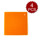 Aspire 4Pcs Silicone Pot Holders, Square Non-slip Potholders/Trivets/Mats