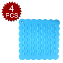 Aspire 4PCS Multi-purpose Silicone Pot Holders, Non-Slip Table Mats