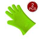 Aspire 2Pcs Barbeque Oven Mitts, Kitchen Heat Resistant Grill Gloves, Quality Silicone