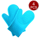 Aspire 4PCS Silicone Kitchen Mitts, Oven Gloves With Non-slip Grip