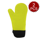 Aspire 2PCS Waterproof Silicone Oven Mitts, Extra Long Oven Mitts Gloves