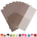Aspire 8PCS Plaid Woven Placemats Round Table Mat