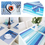 Aspire 8PCS Rainbow Stripe Placemats For Dinning Table