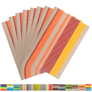 Aspire 8PCS Rainbow Stripe Placemats Heat Insulation