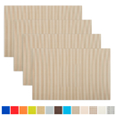 Aspire 4PCS Decorative Insulation Placemat, Washable Table Mats
