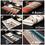 Aspire 8PCS Rainbow Stripe Placemats Heat Insulation