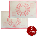Aspire 2Pcs Extra Large Silicone Baking Mat With Measurements 24