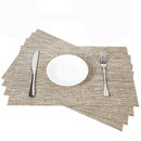 GOGO 4PCS Non-Slip Protective PVC Place Mats Non-Spill Heat Resistant Tablemat with Plastic Cover