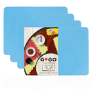 GOGO 4PCS Thicken Reusable Silicone Table Mat Child Kids Dinner Placemat Desk Countertop Waterproof Protector