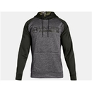 Under Armour 1313751019LG Armour Fleece Stacked Hoodie, Charcoal Light Heather, Large