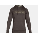 Under Armour 1313751241MD Armour Fleece Stacked Hoodie, Maverick Brown, Medium
