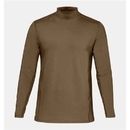 Under Armour 1316935728LG UA Tactical Mock Base Long Sleeve Shirt, Coyote Brown, Large