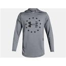 Under Armour 13231050363XL UA Freedom Tech Terry Hoodie, Steel/Black, 3X-Large