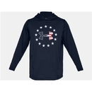 Under Armour 1323105408LG UA Freedom Tech Terry Hoodie, Academy, Large
