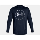 Under Armour 1323105409XL UA Freedom Tech Terry Hoodie, Academy/Steel, X-Large