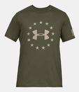 Under Armour 1333351390LG UA Freedom Logo T-Shirt, Marine OD Green, Large