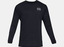 Under Armour 1333369001SM UA Freedom Flag Long Sleeve T-Shirt, Black, Small