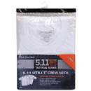 5.11 Tactical 40016 Utili-T Crew T-Shirt 3 Pack, Medium, White (010)