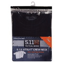 5.11 TACTICAL 40016-019-2XL Utili-T Crew T-Shirt 3 Pack, Black, 2X-Large
