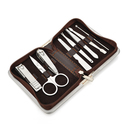 ALICE Plaid Manicure Set with Stainless Steel Grooming Tools - 8 in 1