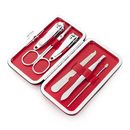 ALICE Multi-color Carbon Steel Nailcare Set 6pcs in Leather Box