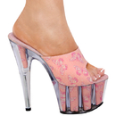 Karo's Shoes 3141 Baby Pink Glitter Fabric with B-Fly, 7