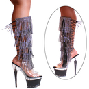 Karo's Shoes 3215-K/H Rhinestone Fringes with Zipper, 7