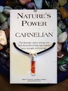 Starlinks Nature's Power NM113 Carnelian Pendant for Strength and Courage