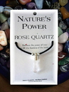 Starlinks Nature's Power NM122 Rose Quartz Pendant for Lifting the Burdens of the Heart