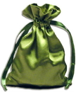 PS10 Moss Green Satin Pouches (12 pcs)