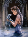 Starlinks WP754AS Water Dragon Canvas Art Print by Anne Stokes