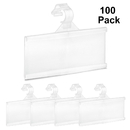 100-Pack Label Holder Plastic Strips Retail Price Hang Tag Holder for Wire Shelf Warehouse 3