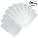 100-Pack Self-Adhesive Label Holder Envelopes Pockets Index Card Pockets for Label Parking Permit Business Card