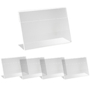 30 Pack Sign Display Holder Label Holder Price Card Acrylic Top Stand Case Name Card 3.54