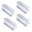 100 Pcs Wood Shelf Label Holders Clear Plastic Price Tag 2.4 in L x 1 in H for Bookshelf Shelves