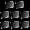 50 Pcs Acrylic Label Sign Display Holder Label Holder Price Card Top Stand Case Name Card