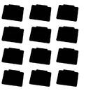 50 Pcs PVC Price Tag Label Clip Rewritable Writing Board Black Board Basket Label Holder Supermarket Display Tag
