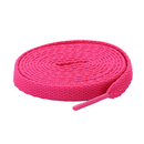 TopTie 60 Pairs Hot Pink Flat Shoelaces, Breast Cancer Awareness Color