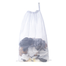 Aspire Mesh Laundry Bag White 24-Inch L x 36-Inch H With Drawstring Closure