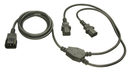 LINDY 30037 IEC C14 to 2 x IEC Y Power Cable, 2m